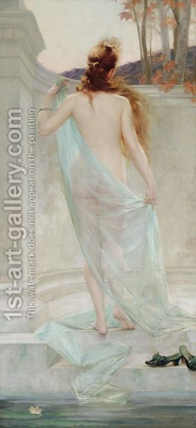 Diane Sortant De Son Bain by Edouard-Marie-Guillaume Dubufe - Reproduction Oil Painting