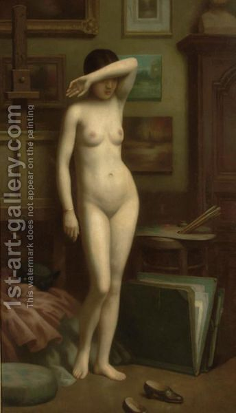 The Reluctant Model by Antony Troncet - Reproduction Oil Painting