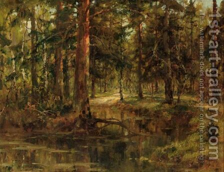 Through The Woods by Iulii Iul'evich (Julius) Klever - Reproduction Oil Painting