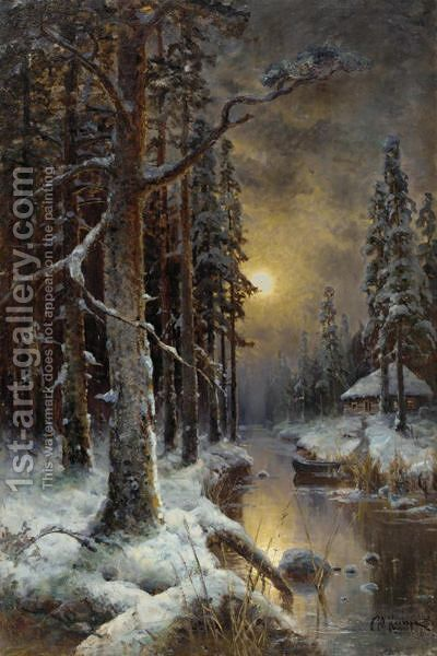 The Forest, Winter by Iulii Iul'evich (Julius) Klever - Reproduction Oil Painting