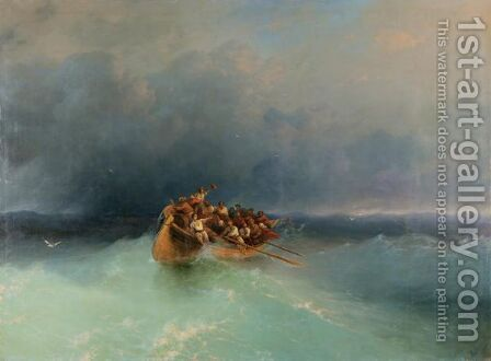 The Survivors by Ivan Konstantinovich Aivazovsky - Reproduction Oil Painting