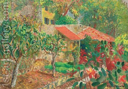 Vibrant Landscape by Boris Dmitrievich Grigoriev - Reproduction Oil Painting