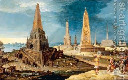 Nimrod Amongst The Monuments by Hendrick van Cleve - Reproduction Oil Painting