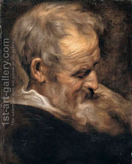 Portrait of an old man by (after) Dyck, Sir Anthony van - Reproduction Oil Painting