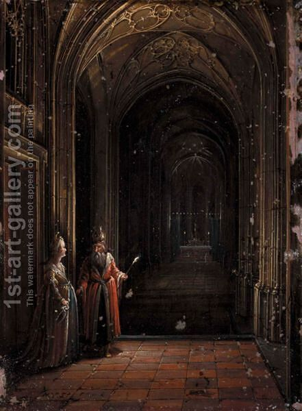 Interior Of A Church by Hendrick Van Steenwijk II - Reproduction Oil Painting