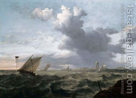 Small Dutch Vessels In A Short Chop by Jan Theunisz Blanckerhoff - Reproduction Oil Painting