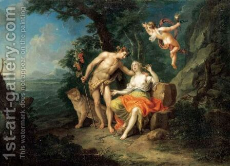 Bacchus And Ariadne by (after) Frans Christoph Janneck - Reproduction Oil Painting