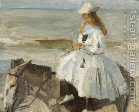 The Donkey Ride by Isaac Israels - Reproduction Oil Painting