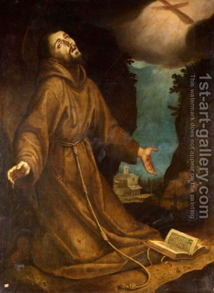 Saint Francis Receiving The Stigmata by (after) Lodovico Cardi Cigoli - Reproduction Oil Painting