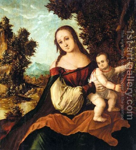The Madonna And Child by Danube School - Reproduction Oil Painting