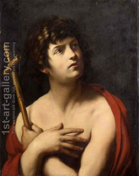 Saint John The Baptist 2 by (after) Guido Reni - Reproduction Oil Painting