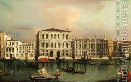Venice, A View Of The Ca' Pesaro Across The Grand Canal by (after) Michele Marieschi - Reproduction Oil Painting