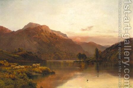 Departing Day Near Blair Atholl by Alfred de Breanski - Reproduction Oil Painting