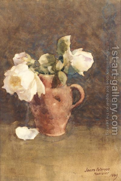 Still Life With Roses by James Paterson - Reproduction Oil Painting