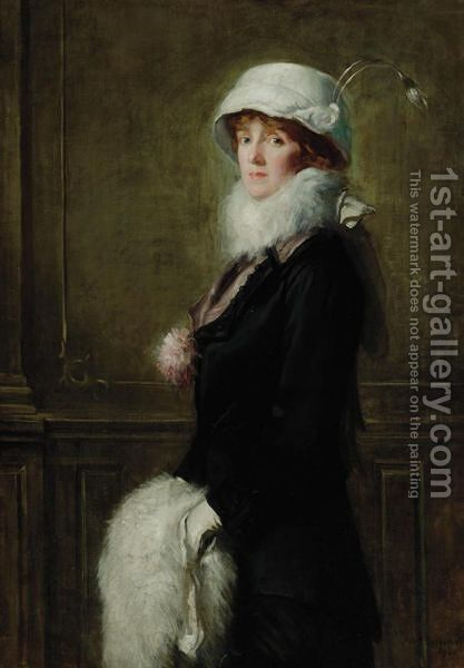 Mrs. Bryan H. Owsley by Albert Rosenthal - Reproduction Oil Painting