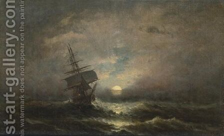 Ship At Sea by Charles Henry Gifford - Reproduction Oil Painting