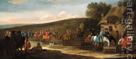 Racehorses And Their Jockeys Returning To The Stables by (after) John Wootton - Reproduction Oil Painting