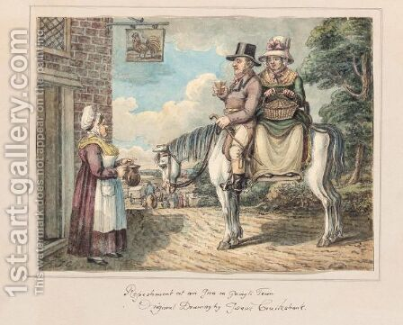 Refreshment At An Inn On Going To Town by Isaac Cruikshank - Reproduction Oil Painting