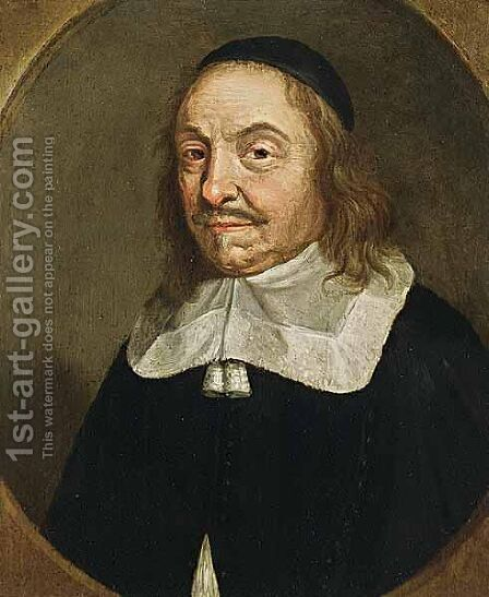 A Portrait Of A Man by (after) Johannes Cornelisz. Verspronck - Reproduction Oil Painting