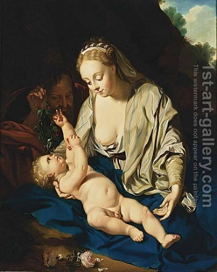 Rest On The Flight To Egypt by (after) Adriaen Van Der Werff - Reproduction Oil Painting