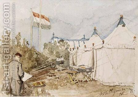 Military Camp At Milligen 60 by Charles Rochussen - Reproduction Oil Painting