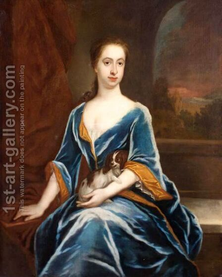 Portrait Of Rebecca Hillhouse, Daughter Of Colonel James Lennox by (after) Kneller, Sir Godfrey - Reproduction Oil Painting