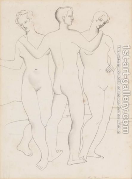 The Three Graces by Christopher Wood - Reproduction Oil Painting