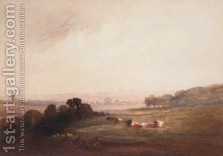 Cattle Resting by Alfred William Rich - Reproduction Oil Painting
