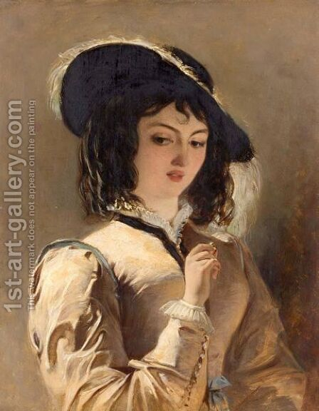 Portrait Of A Lady by (after) Frith, William Powell - Reproduction Oil Painting