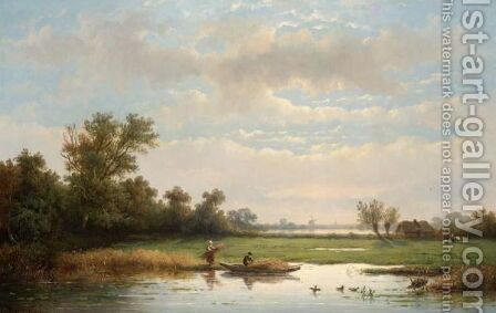 Harvesting The Reeds by Anthonie Jacobus van Wyngaerdt - Reproduction Oil Painting