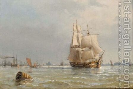 Shipping Off Copenhagen by Anton Melbye - Reproduction Oil Painting