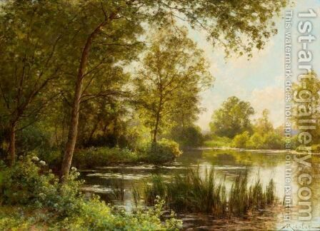 The River Bank In Summer by Albert Gabriel Rigolot - Reproduction Oil Painting
