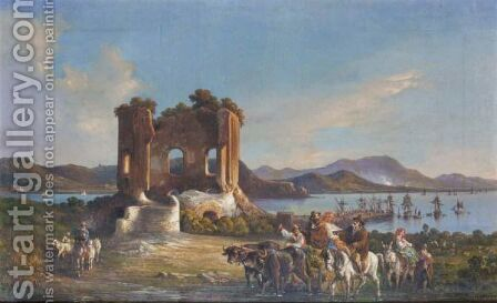Neapolitan View by Consalvo Carelli - Reproduction Oil Painting