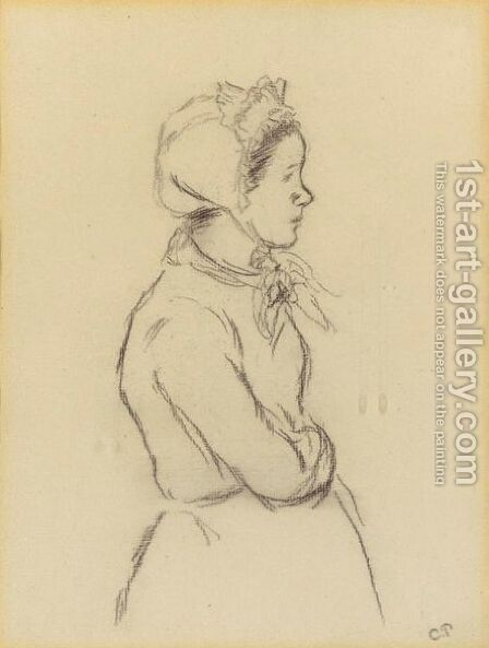 Femme En Profil by Camille Pissarro - Reproduction Oil Painting