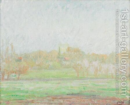 Brouillard A Eragny by Camille Pissarro - Reproduction Oil Painting