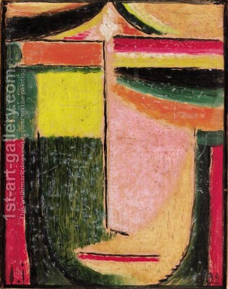 Abstrakter Kopf (Abstract Head) by Alexei Jawlensky - Reproduction Oil Painting