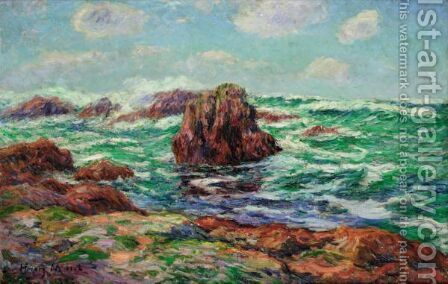 Pern, Ile D'Ouessant 2 by Henri Moret - Reproduction Oil Painting