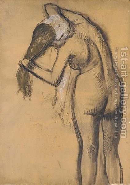 Femme A Sa Toilette 3 by Edgar Degas - Reproduction Oil Painting