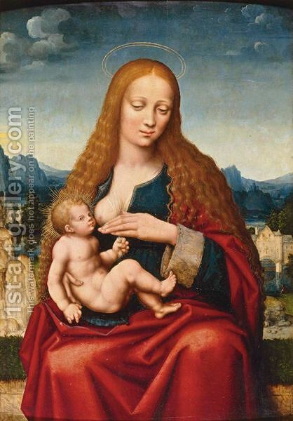 Madonna And Child In A Landscape by (after) Marco D' Oggiono - Reproduction Oil Painting