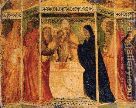 Presentation Of Christ In The Temple by (after) Agnolo Gaddi - Reproduction Oil Painting