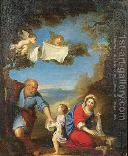 Holy Family (La Laveuse) by (after) Francesco Albani - Reproduction Oil Painting