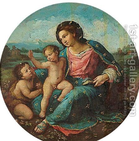 Madonna D'Alba by (after) Raphael (Raffaello Sanzio of Urbino) - Reproduction Oil Painting