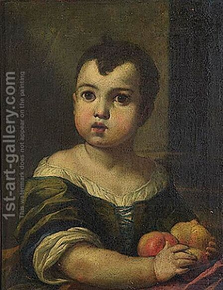 Portrait Of A Child by (after) Antonio Amorosi - Reproduction Oil Painting