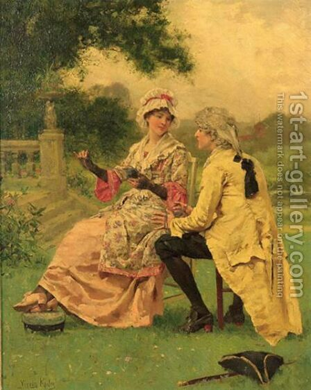 Winding The Whirl by Henry John Yeend King - Reproduction Oil Painting