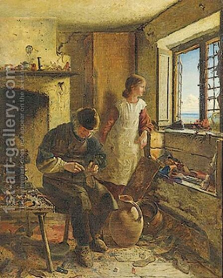 The Cobbler's Daughter by James G. Forbes - Reproduction Oil Painting