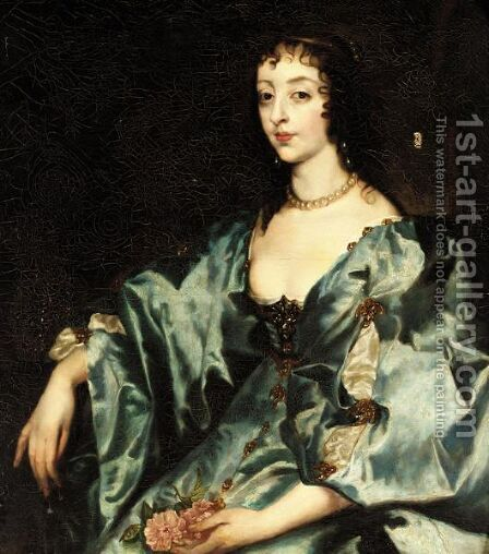 Portrait Of A Henrietta Maria by (after) Dyck, Sir Anthony van - Reproduction Oil Painting