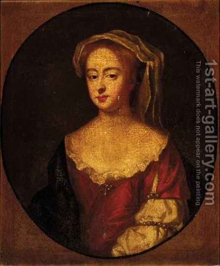 Portrait Of A Lady by (after) Kneller, Sir Godfrey - Reproduction Oil Painting