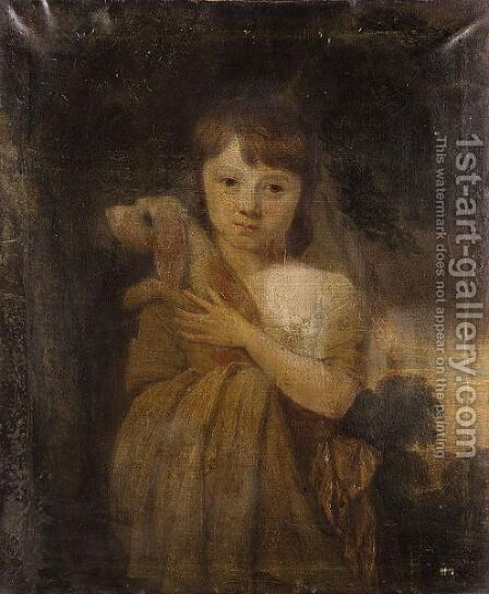 Portrait Of A Young Girl 2 by (after) John Opie - Reproduction Oil Painting