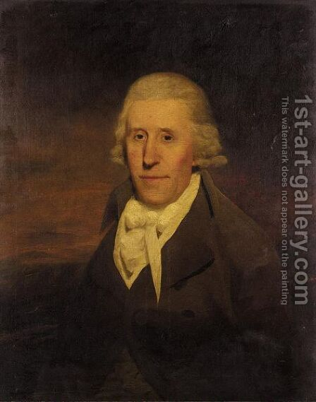 Portrait Of A Gentleman by (after) James Rawlinson C - Reproduction Oil Painting