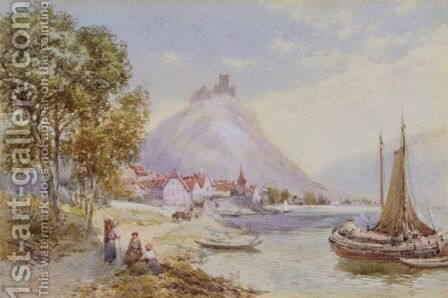 Beilstein On The Mosel by Charles Rowbotham - Reproduction Oil Painting
